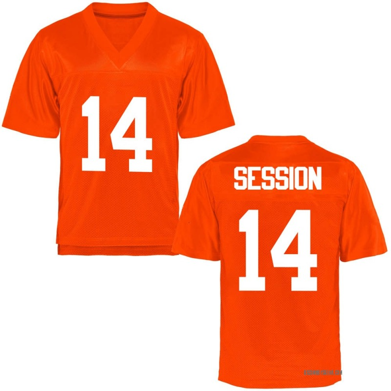Replica Youth Nick Session Oklahoma State Cowboys Orange Football College Jersey
